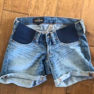 J. Crew maternity jean shorts rolled size 24
